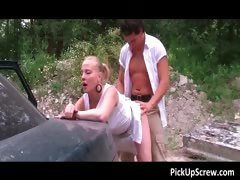 Hot nasty blonde whore gets picked part6